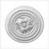 Old Small Bead Plaster Ceiling Rose 430mm
